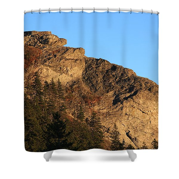The Devil's Courthouse - Blue Ridge Parkway Shower Curtain