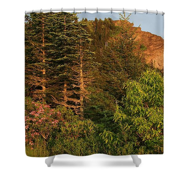 The Devil's Courthouse Shower Curtain
