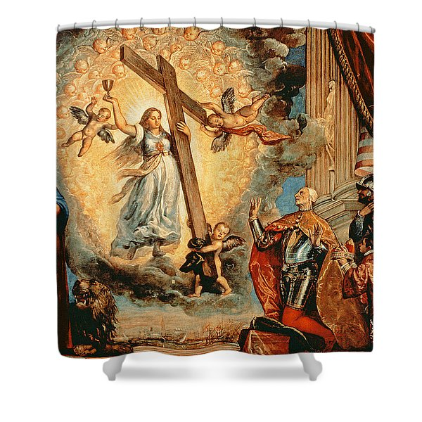 The Doge Grimani Kneeling Before Faith Shower Curtain