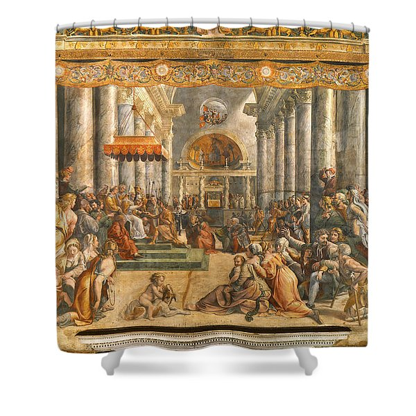 The Donation Of Rome. Shower Curtain