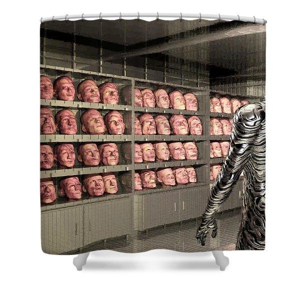 The Doppleganger Shower Curtain