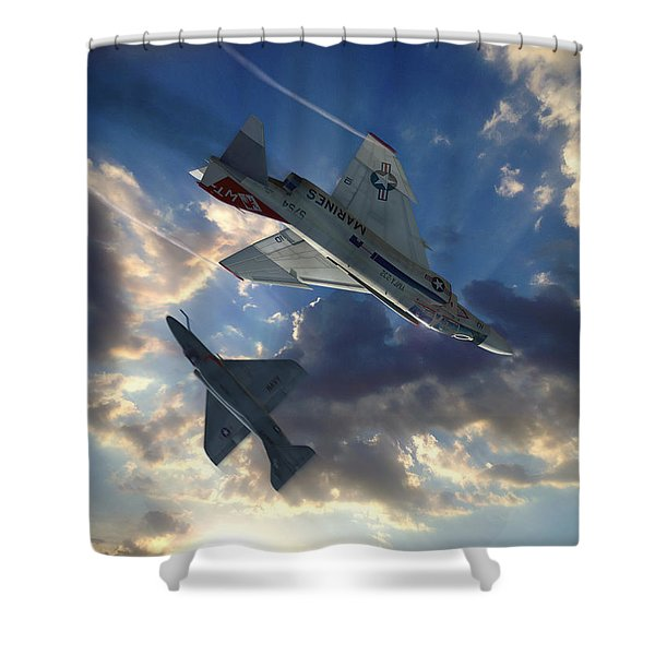 The Duel Shower Curtain