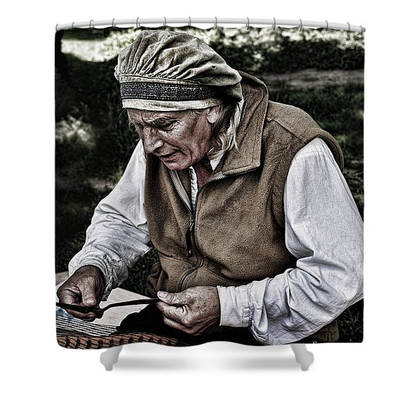 The Dulcimer Man Shower Curtain