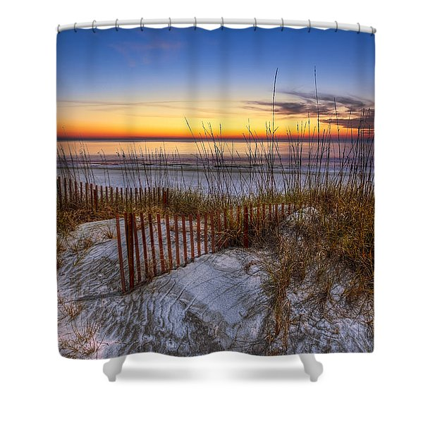 The Dunes At Sunset Shower Curtain