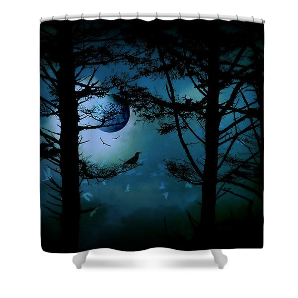 The Edge Of Twilight  Shower Curtain