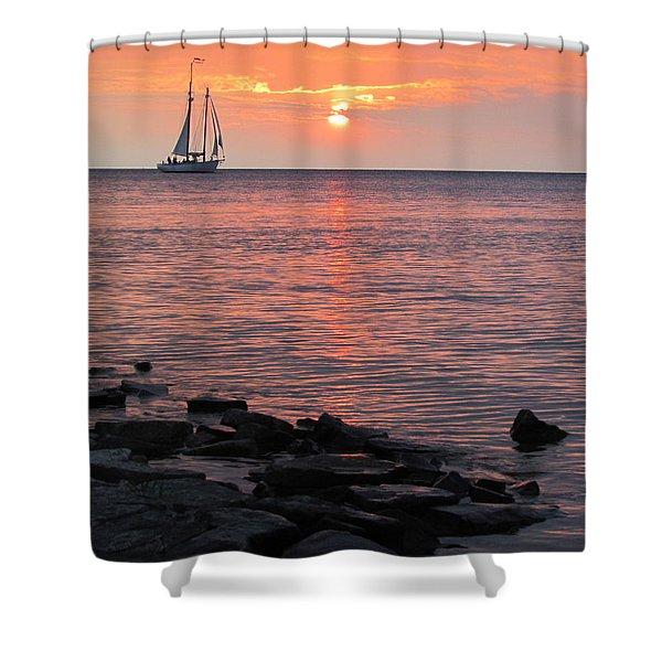 The Edith Becker Sunset Cruise Shower Curtain