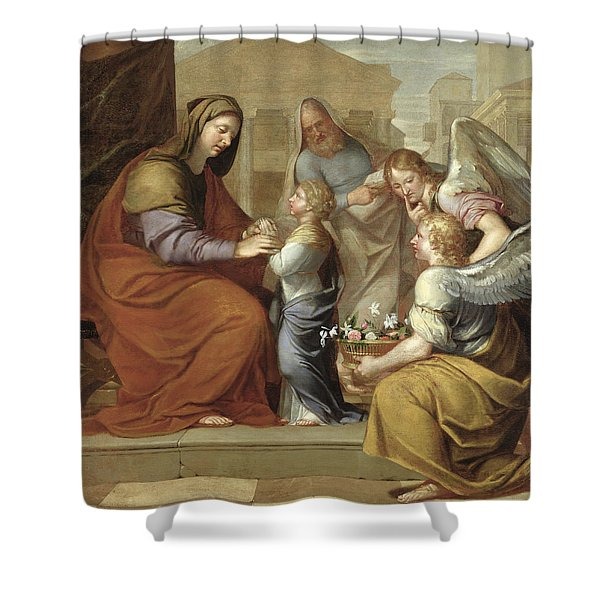 The Education Of The Virgin, 1658 Oil On Canvas Shower Curtain