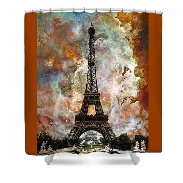 The Eiffel Tower - Paris France Art By Sharon Cummings Shower Curtain