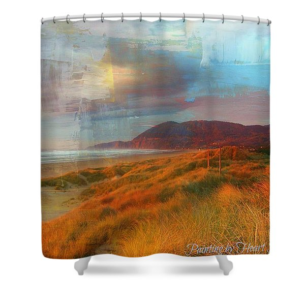 The Elk Trail Shower Curtain