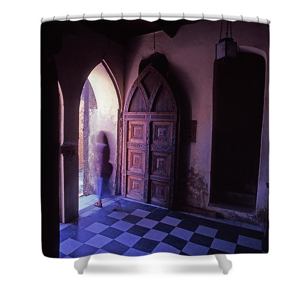 The Entrance And Door Of The Anglican Shower Curtain