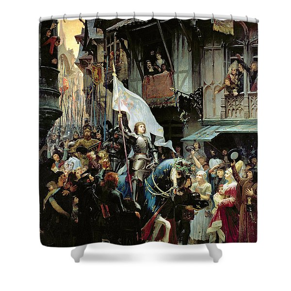 The Entrance Of Joan Of Arc Into Orleans Shower Curtain