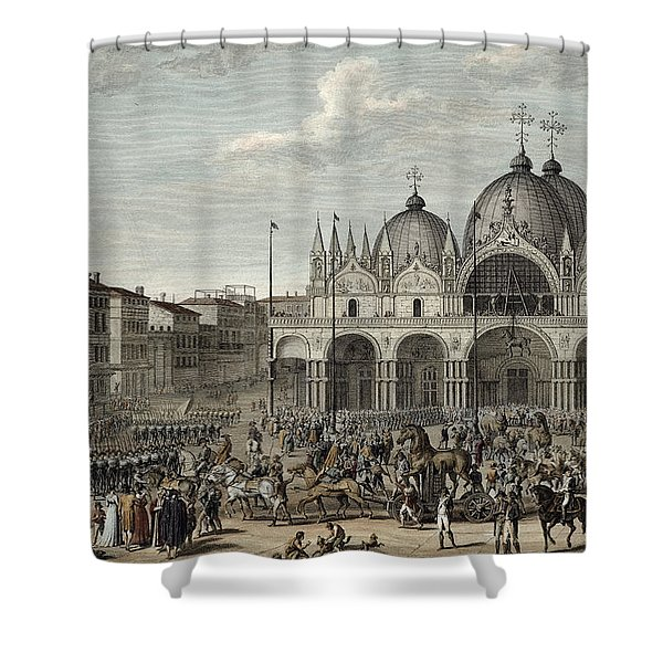 The Entry Of The French Into Venice Shower Curtain