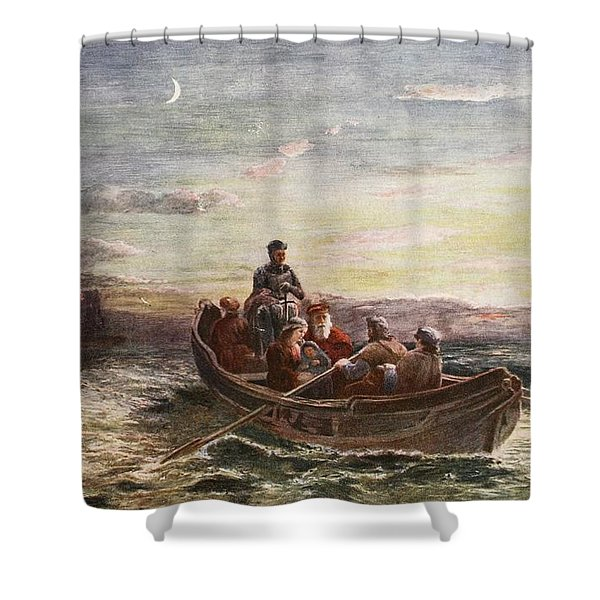 The Escape Of Mary Queen Of Scots Shower Curtain