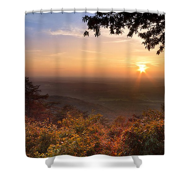 The Evening Star Shower Curtain