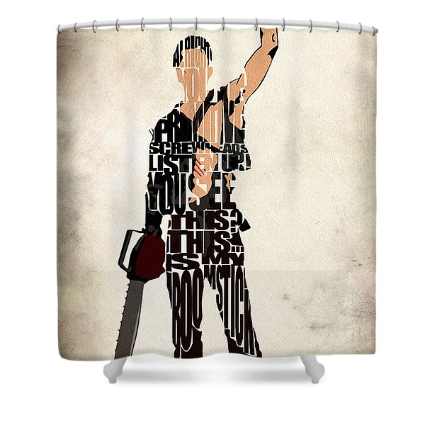The Evil Dead - Bruce Campbell Shower Curtain