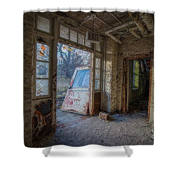 The Exit Shower Curtain