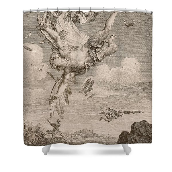 The Fall Of Icarus, 1731 Shower Curtain