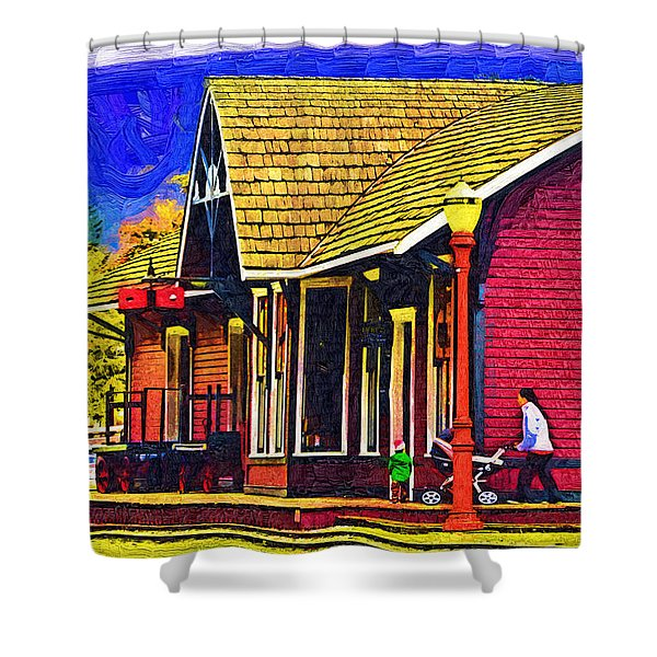 The Family Outing Shower Curtain