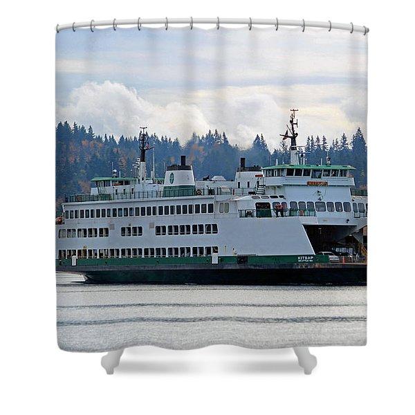 The Ferry Kitsap Shower Curtain