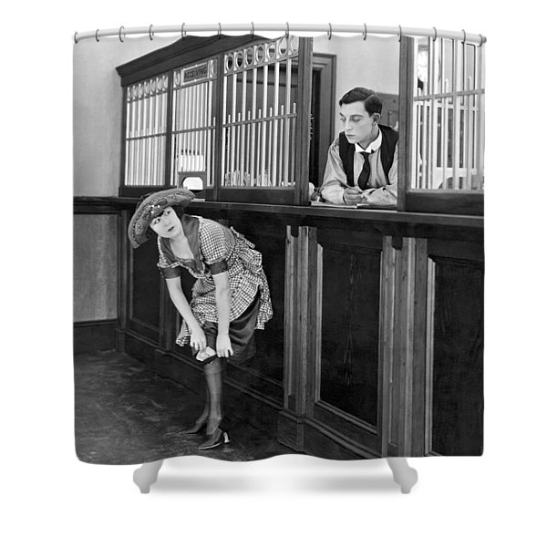 The Film the Haunted House Shower Curtain