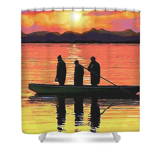 The Fishermen Shower Curtain