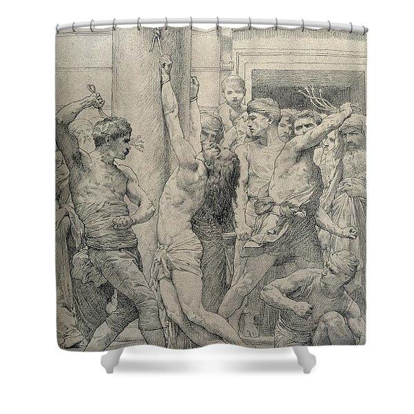 The Flagellation Of Christ Shower Curtain