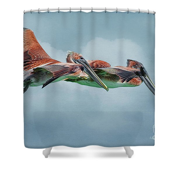 The Flying Pair Shower Curtain