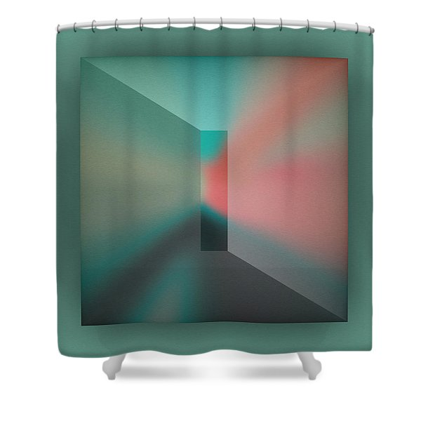 Shower Curtain featuring the digital art The Focus - Green by Mihaela Stancu