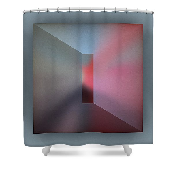 Shower Curtain featuring the digital art The Focus by Mihaela Stancu