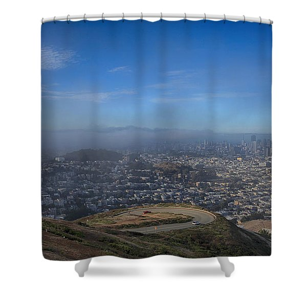 The Fog Is Rolling In Shower Curtain