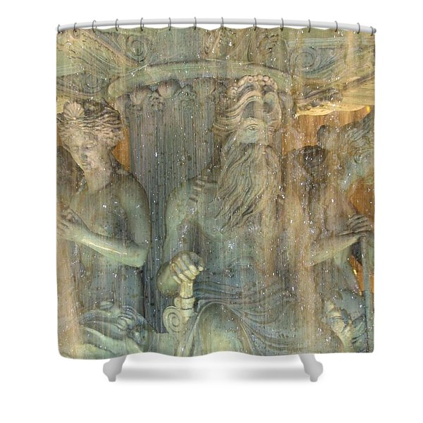 Shower Curtain featuring the photograph The Fountain by Karin Thue