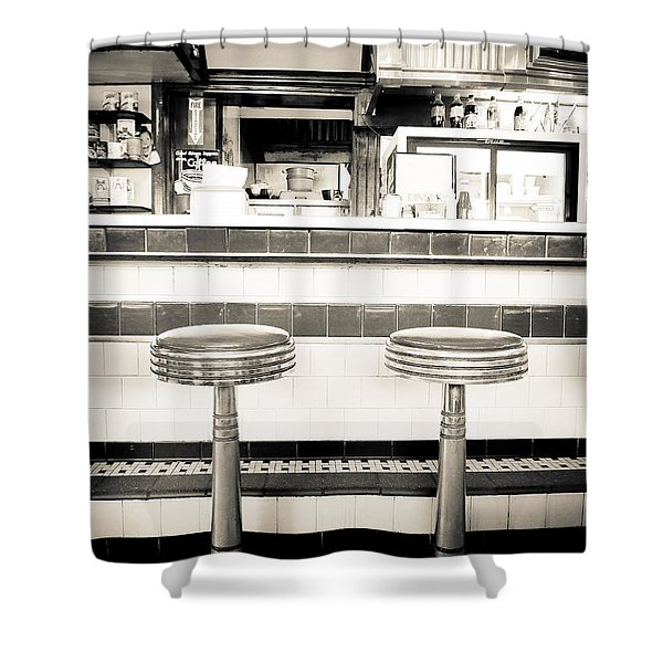 The Four Aces Diner Shower Curtain
