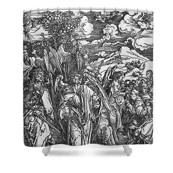 The Four Angels Holding The Winds Shower Curtain
