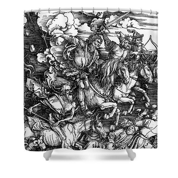 The Four Horsemen Of The Apocalypse Shower Curtain