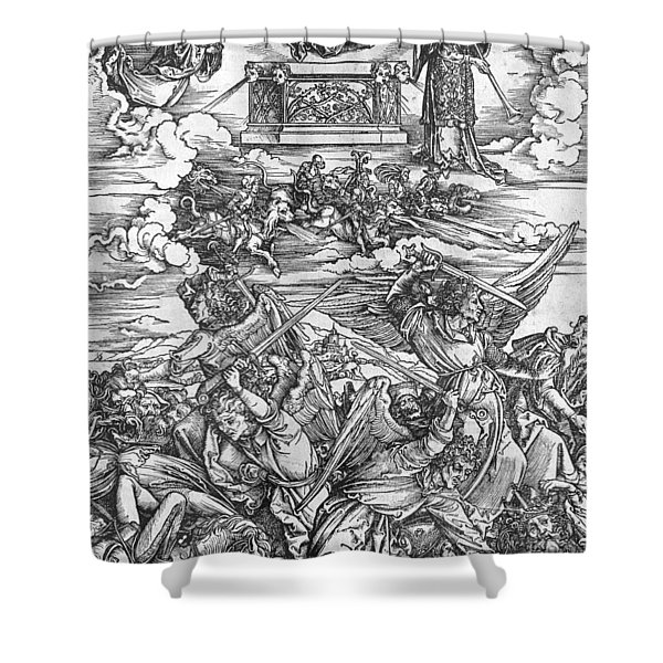 The Four Vengeful Angels Shower Curtain