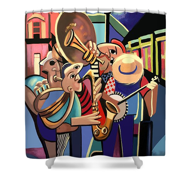 Shower Curtain featuring the painting The French Quarter by Anthony Falbo