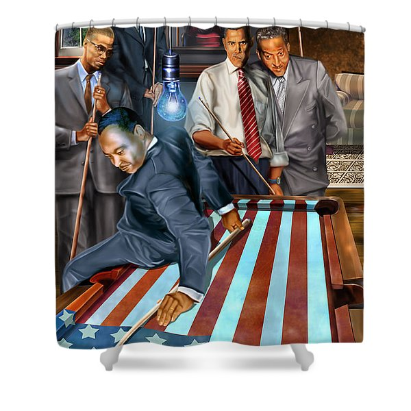 The Game Changers And Table Runners Shower Curtain