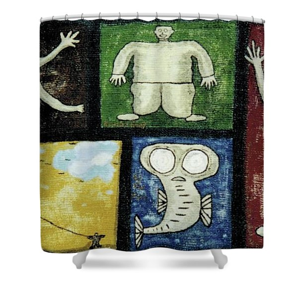 The Gang Of Five Shower Curtain