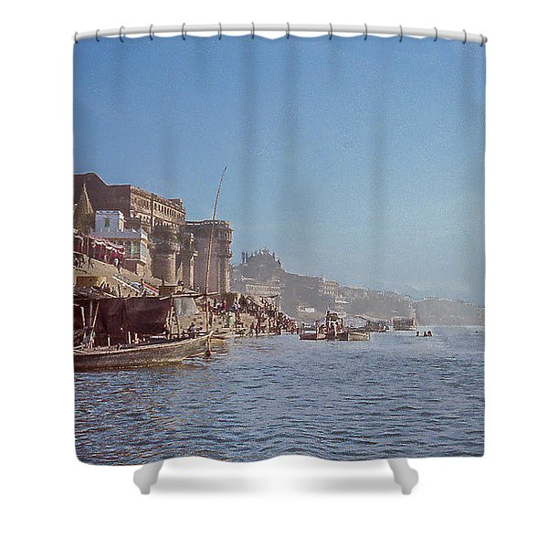 The Ganges River At Varanasi Shower Curtain