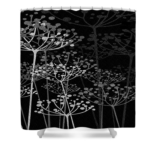 The Garden Of Your Mind Bw Shower Curtain