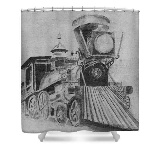 The General - Train - Big Shanty Kennesaw Ga Shower Curtain