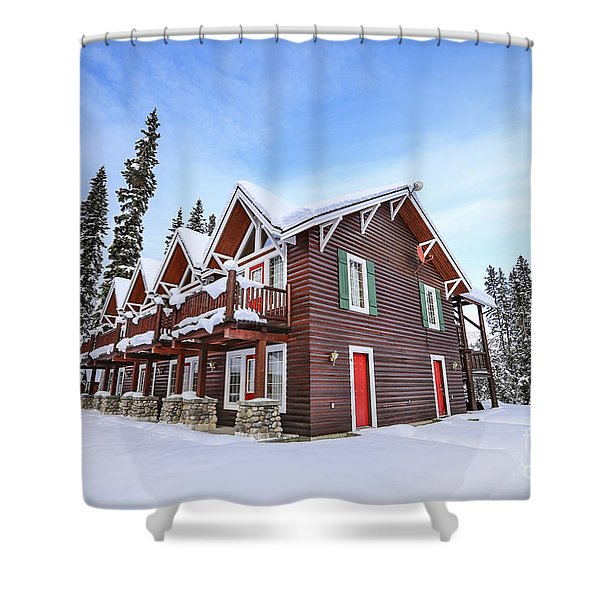 The Glory Of Winter's Chill Shower Curtain