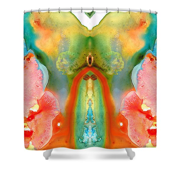The Goddess - Abstract Art By Sharon Cummings Shower Curtain