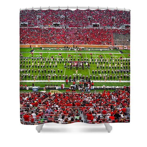 Shower Curtain featuring the photograph The Going Band From Raiderland by Mae Wertz