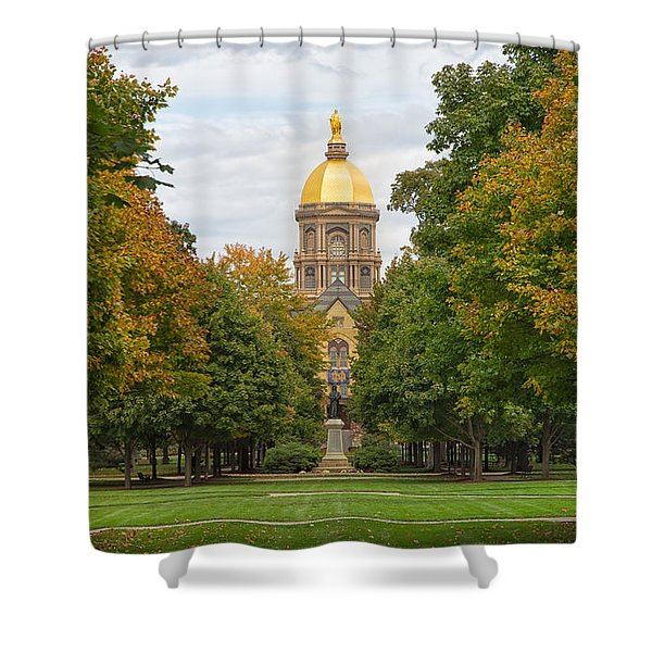 The Golden Dome Of Notre Dame Shower Curtain