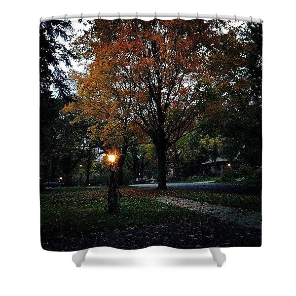 Illuminating Autumn Shower Curtain