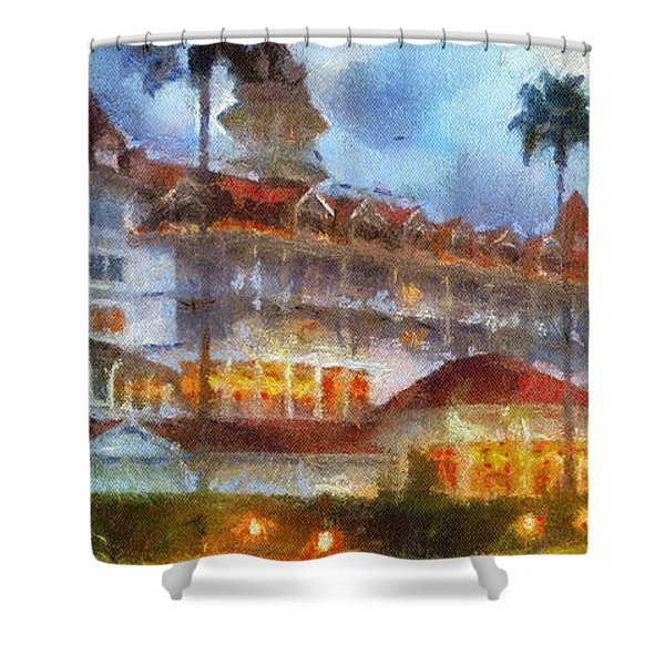 The Grand Floridian Resort Wdw 01 Photo Art Shower Curtain