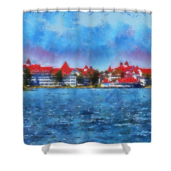 The Grand Floridian Resort Wdw 03 Photo Art Shower Curtain