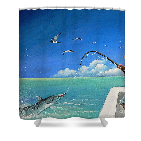 The Great Catch 1 Shower Curtain