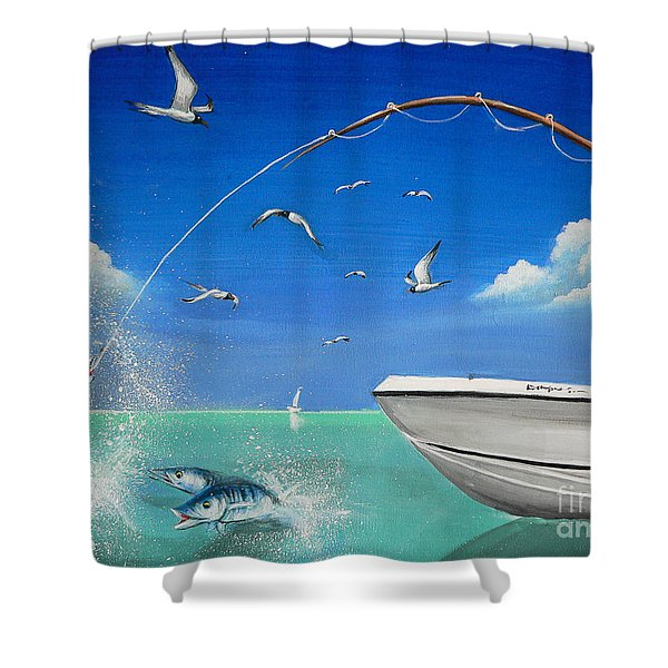 The Great Catch 2 Shower Curtain